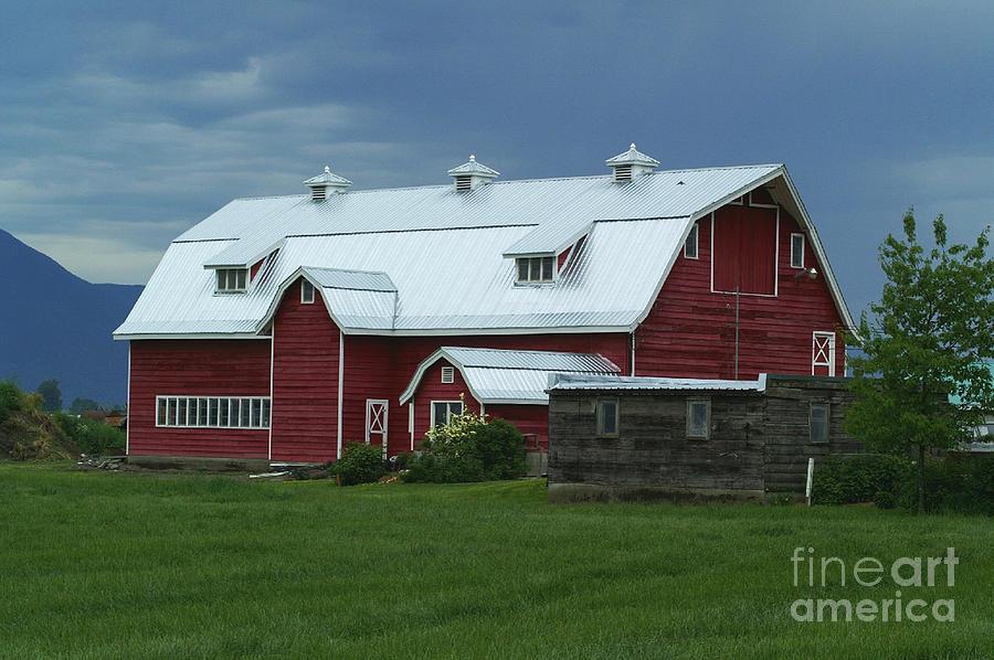 Barns Photograph - Stormy Barnyard by Randy Harris