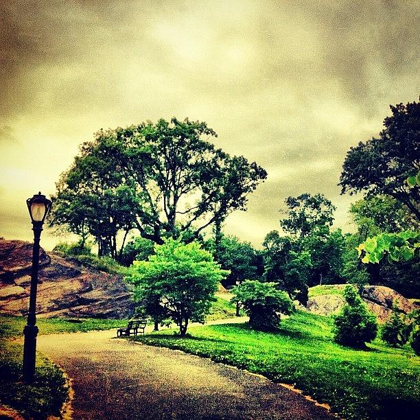 Summer Photograph - Stormy Central Park. #nyc #centralpark by Luke Kingma