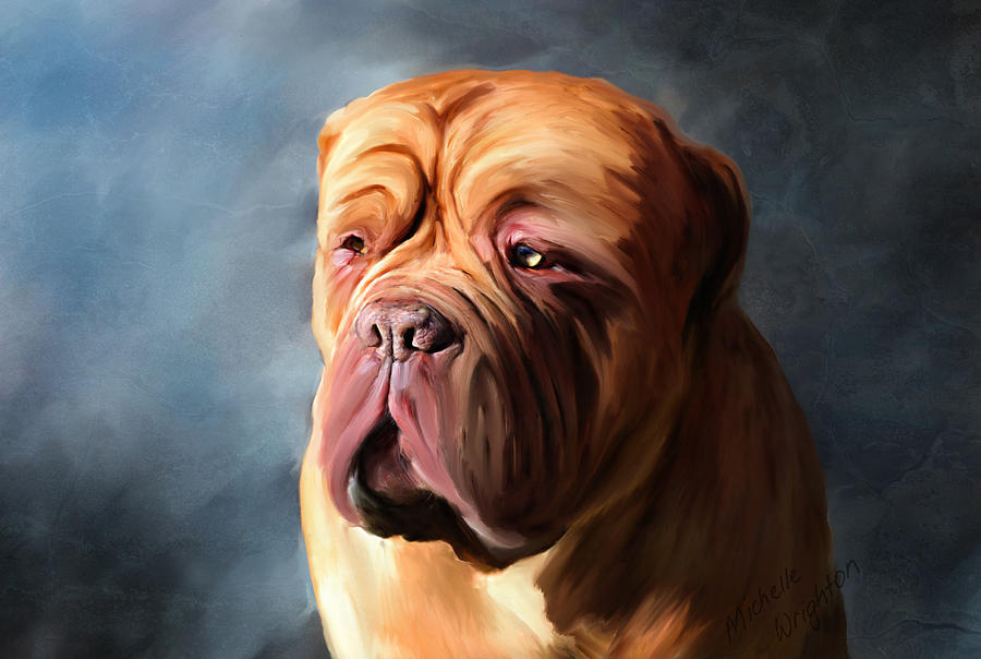 Dog Painting - Stormy Dogue by Michelle Wrighton