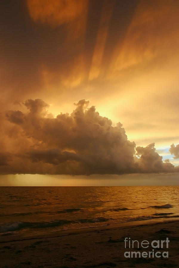 Sunset Photograph - Stormy Gulf Coast Sunset by Matt Tilghman