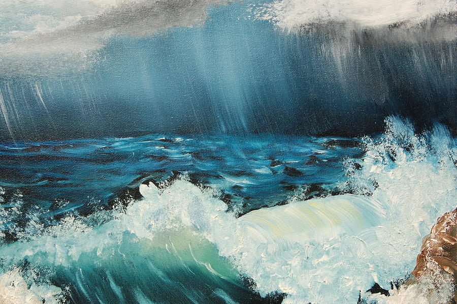 Water Painting - Stormy Night by Katheryn Napier