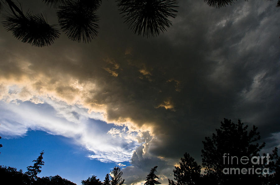 Summer Storm Photograph - Stormy Sky by Terry Elniski