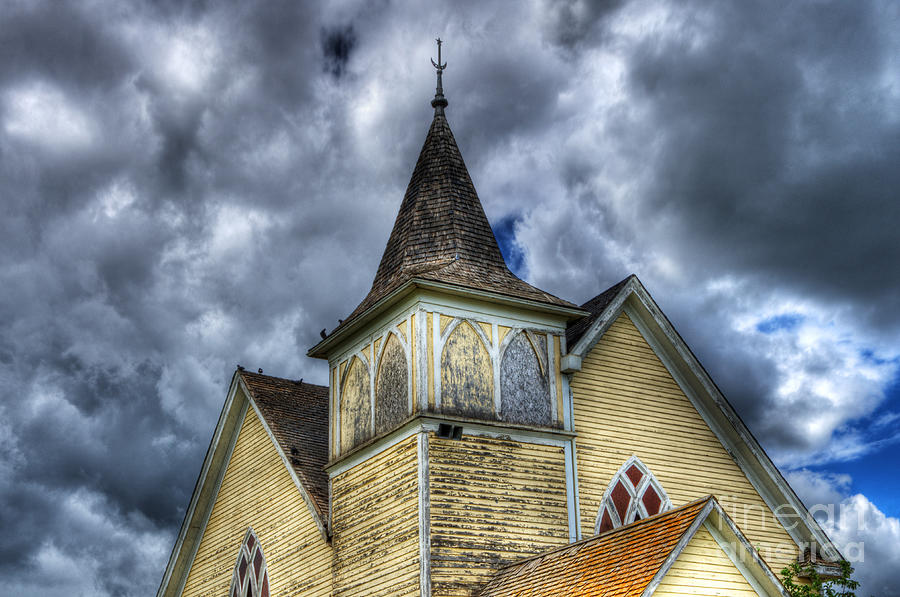 Church Photograph - Stormy Times by Bob Christopher