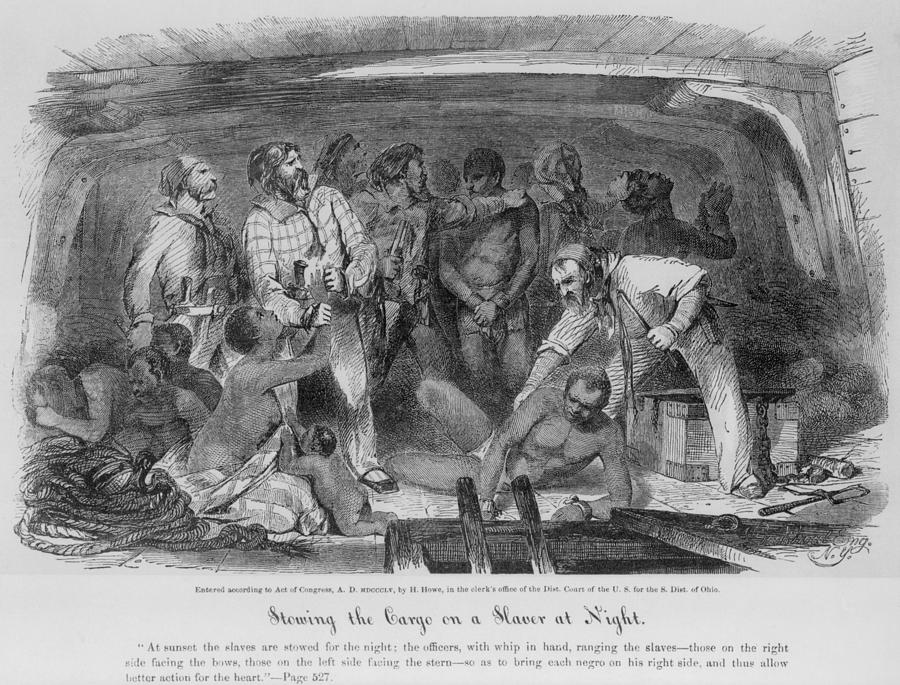 History Photograph - Stowing African Captives In A Slave by Everett