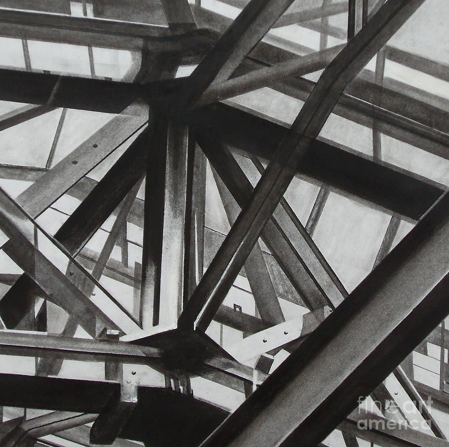 London Drawing - St.pancras  by Drew  Ward
