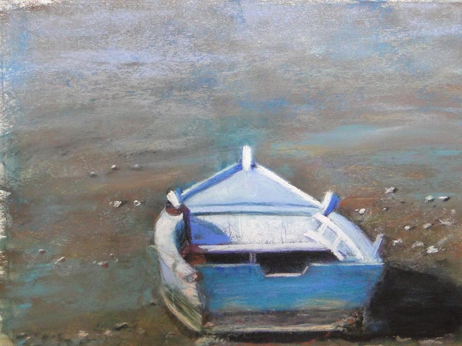 Boat Painting - Stranded by Cindy Plutnicki