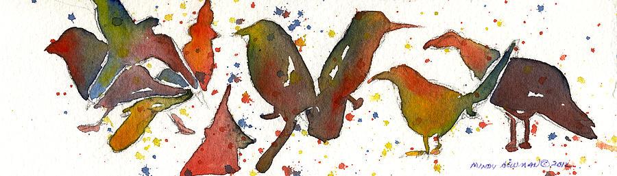 Birds Painting - Strange Birds by Miindy Newman