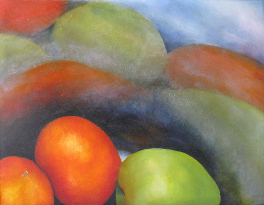 Oranges Painting - Strange Reflections by Erin Hardin