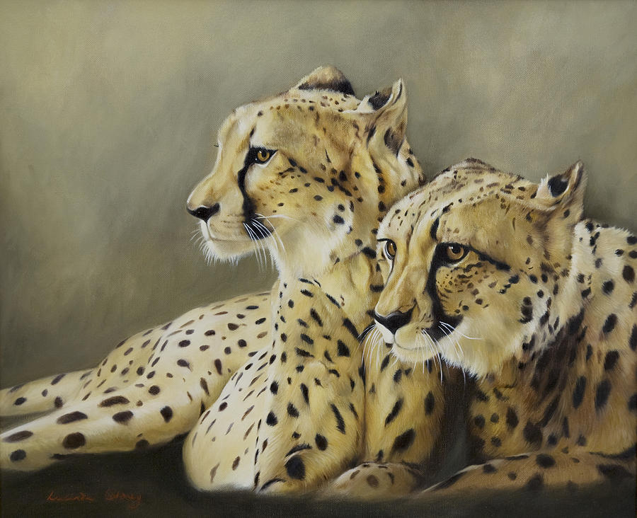 Cheetah Painting - Stranger In The Midst. by Lucinda Coldrey