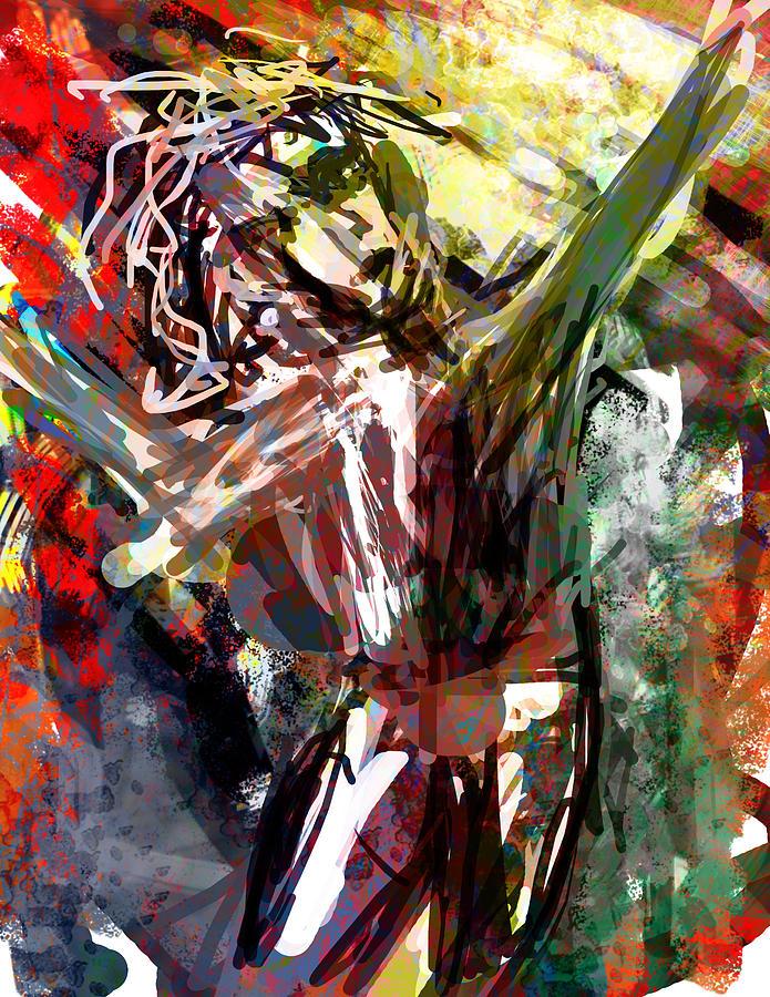Abstract Digital Art - Straw Man by James Thomas