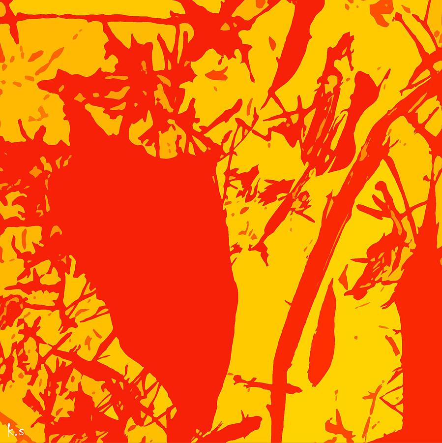 Orange Digital Art - Straw Man  by Keren Shiker