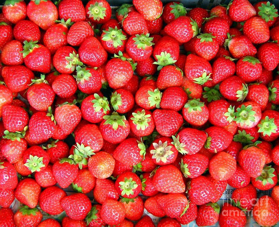 Strawberry Photograph - Strawberries  by Yali Shi