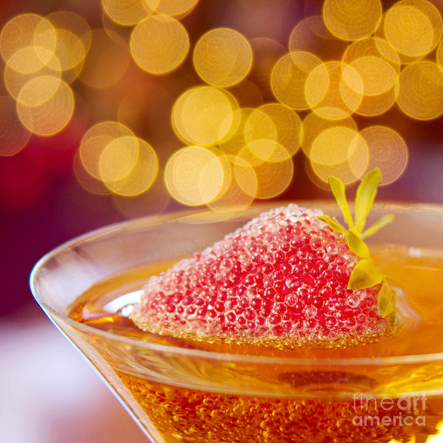 Martini Photograph - Strawberry And Champagne by Kim Fearheiley