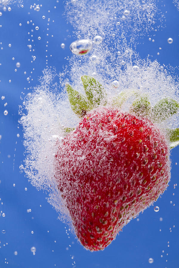Red Photograph - Strawberry Soda Dunk 1 by John Brueske