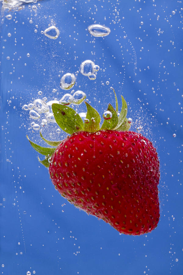 Red Photograph - Strawberry Soda Dunk 3 by John Brueske