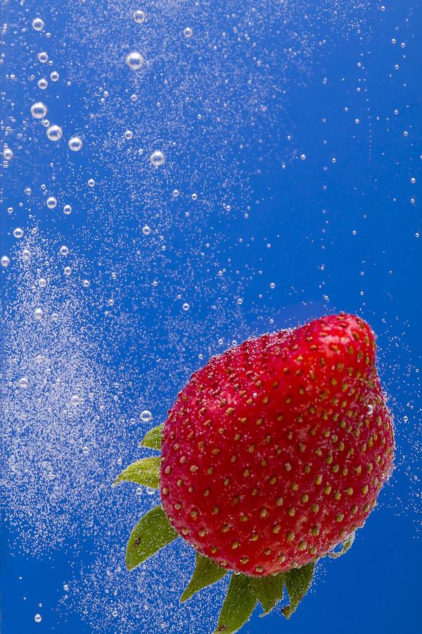 Red Photograph - Strawberry Soda Dunk 4 by John Brueske