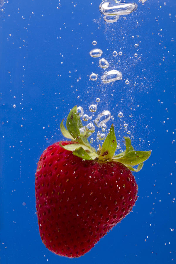 Red Photograph - Strawberry Soda Dunk 5 by John Brueske