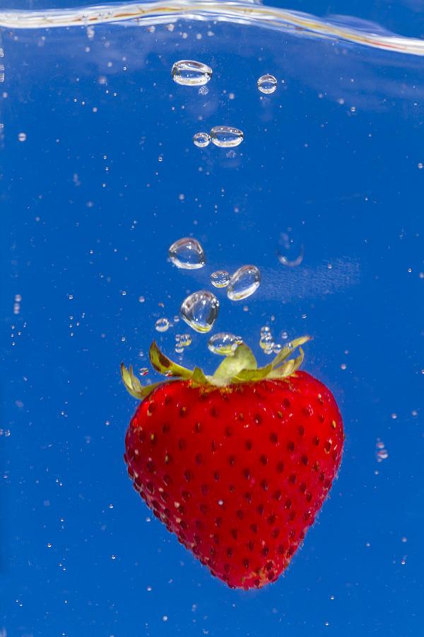 Red Photograph - Strawberry Soda Dunk 6 by John Brueske