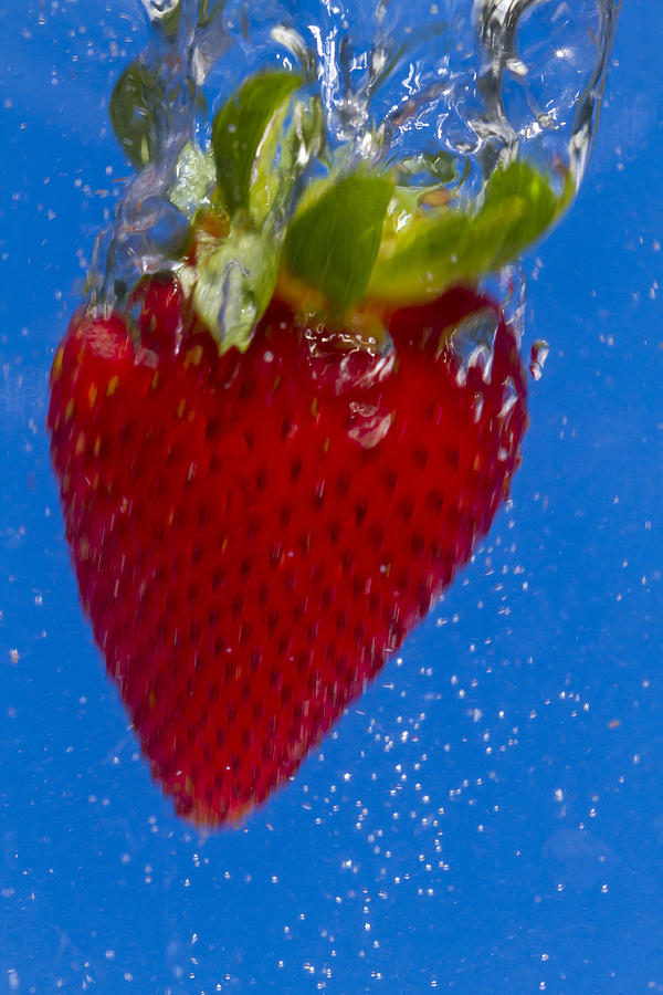 Red Photograph - Strawberry Soda Dunk 7 by John Brueske