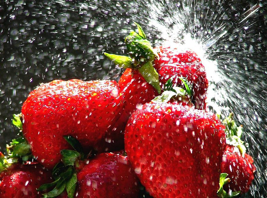 Berry Photograph - Strawberry Splatter by Colin J Williams Photography