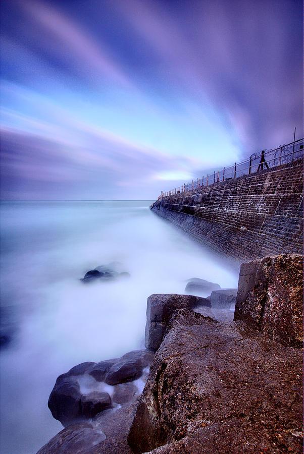 Rocks Photograph - Streaks by Mark Leader
