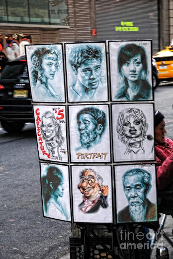 Caricature Photograph - Street Art Nyc by Edward Sobuta