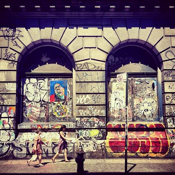 New York City Photograph - Street Art on the Bowery - New York City by Vivienne Gucwa