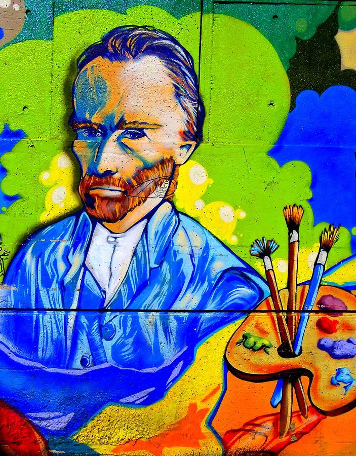 Graffiti Painting - Street Art Van Gogh 1 by Randall Weidner