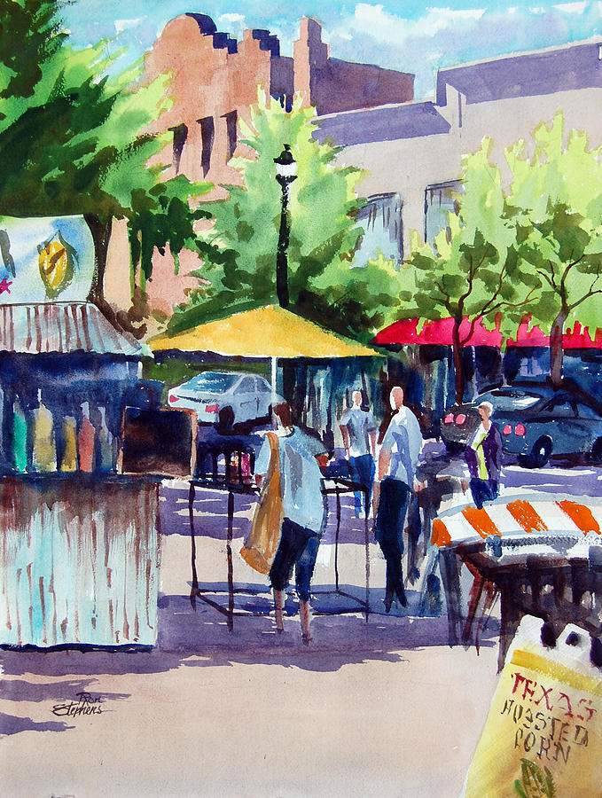 People Painting - Street Fare by Ron Stephens