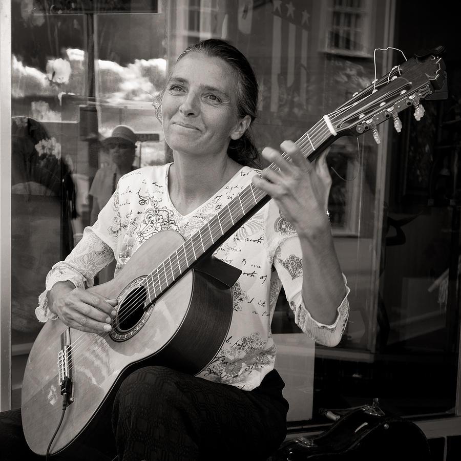 Petra Photograph - Street Guitarist by Dale Davis