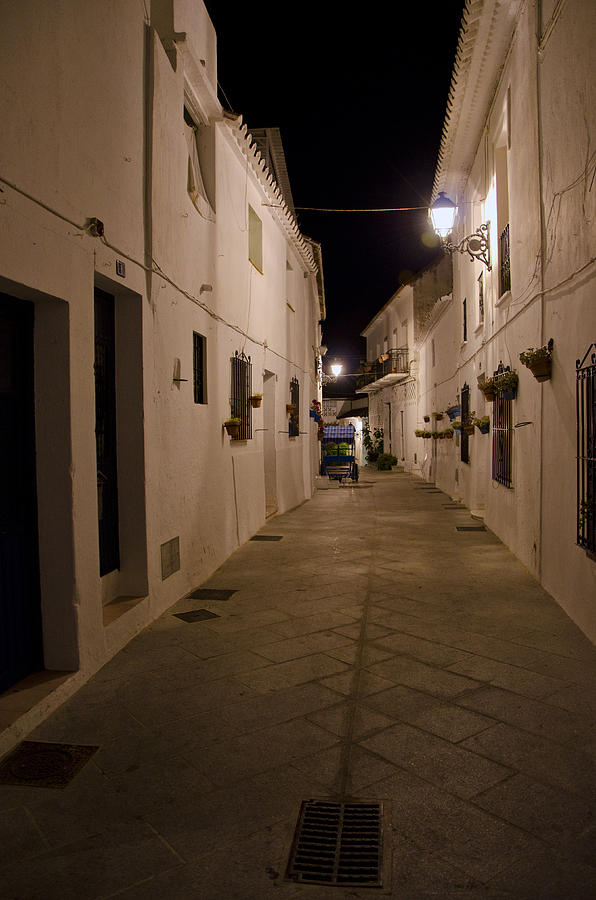 Spain Photograph - Street In A White Village by Perry Van Munster