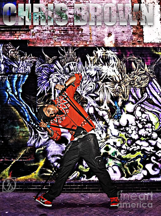 Chris Brown Digital Art - Street Phenomenon Chris Brown by The DigArtisT