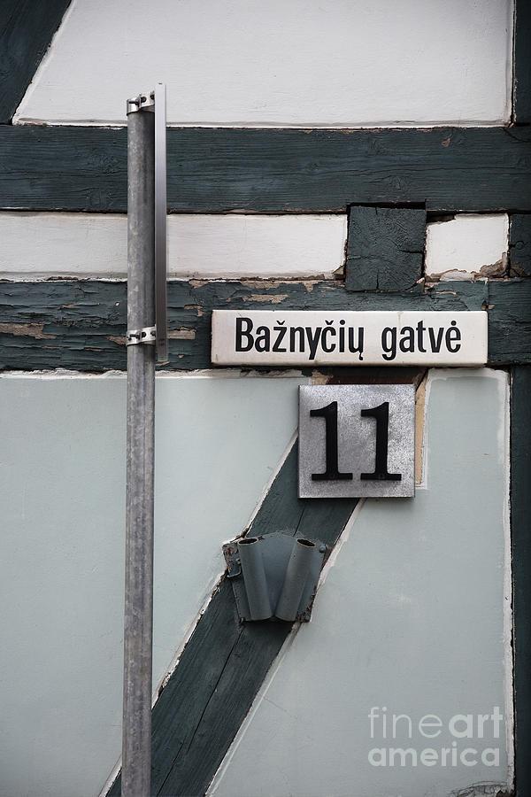 Street Photograph - Street Plate by Agnieszka Kubica
