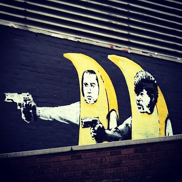 Stencil Photograph - #streetart #smile #stencil #banksy by A Rey