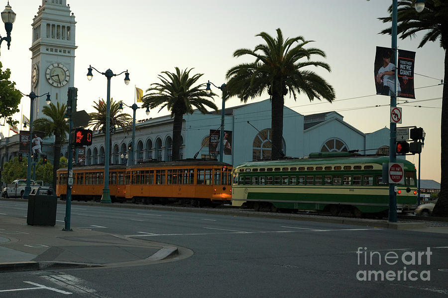 San Francisco Photograph - Streetcars At Sunset by Tim Mulina