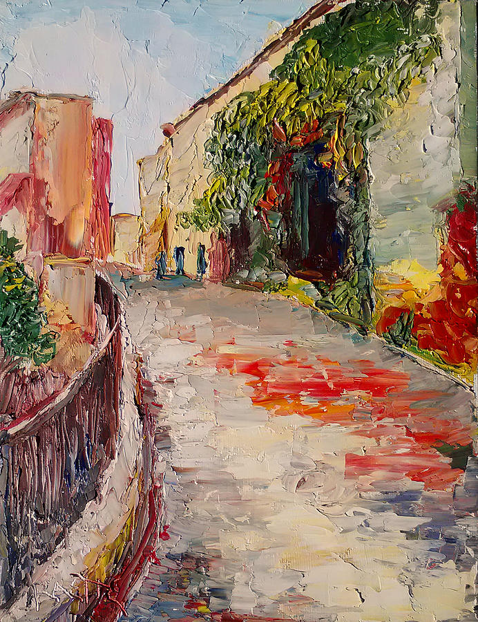 Cannes Painting - Streets Of Old Cannes by Raette Meredith