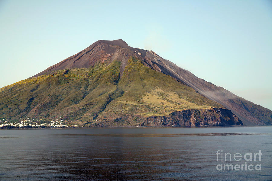 Aeolian Islands Photograph - Stromboli Volcano, Aeolian Islands by Richard Roscoe