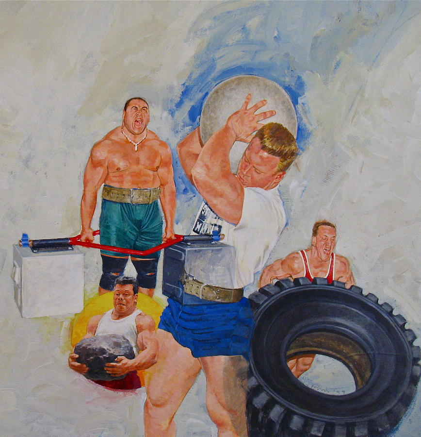 Acrylic Painting Painting - Strong Man by Cliff Spohn