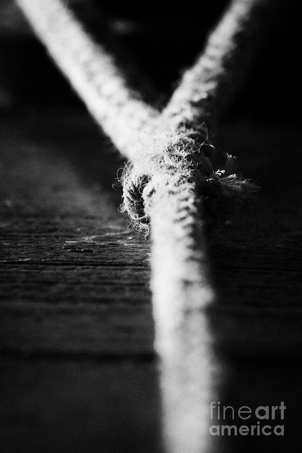 Northern Ireland Photograph - Strong Rope Strain Tension by Joe Fox