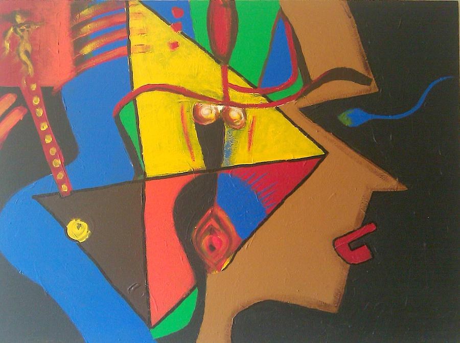 Acrylic Painting - StrongWoman Geometrical Examples of her Special Space by Ari Meier