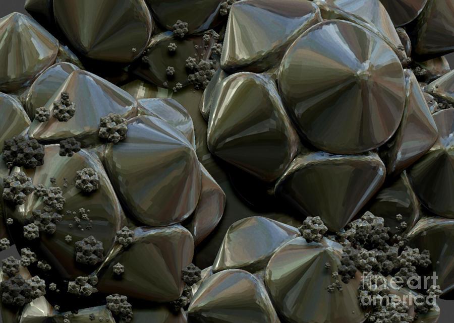 Digital Design Digital Art - Structure Elements by Jan Willem Van Swigchem