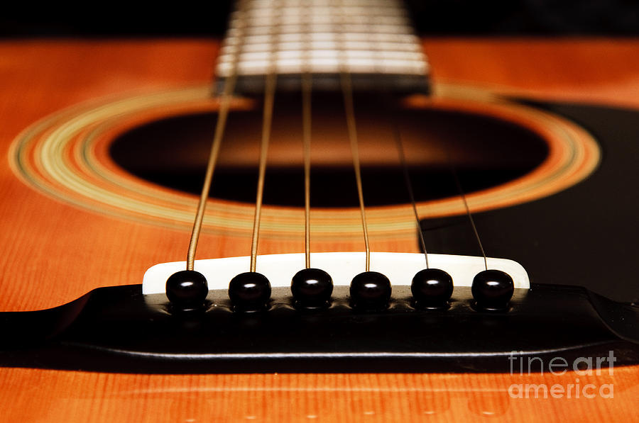 Guitar Photograph - Strum Front by Andee Design