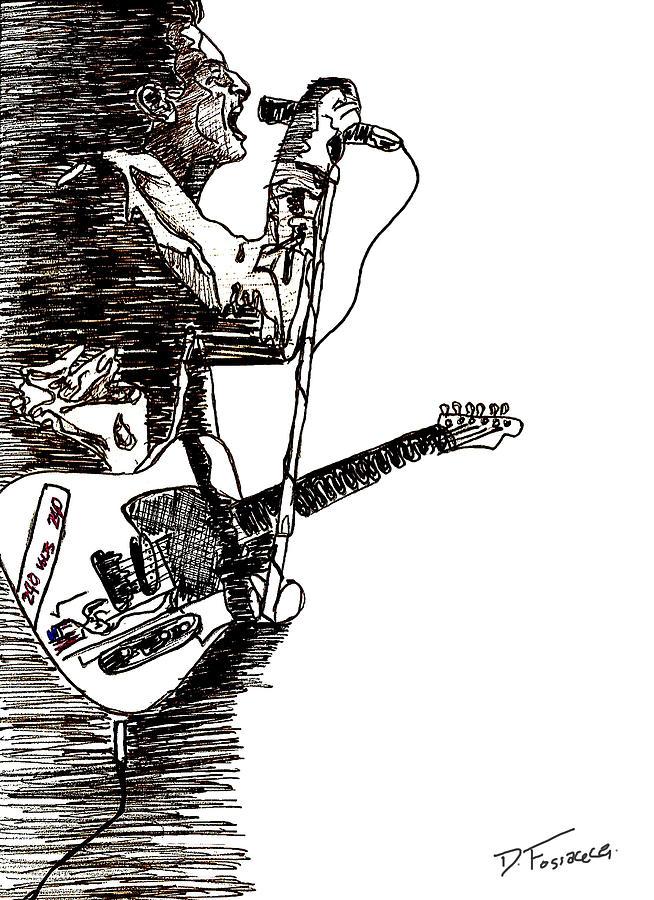 The Clash Digital Art - Strummer by David Fossaceca