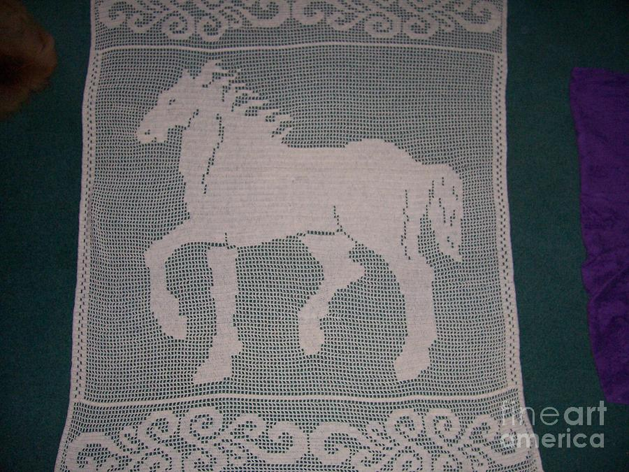 Horse Tapestry - Textile - Strut by Becky Furr