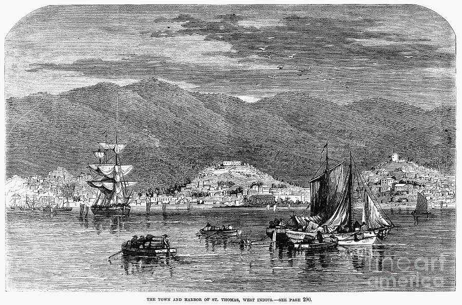 1868 Photograph - St.thomas, 1868 by Granger