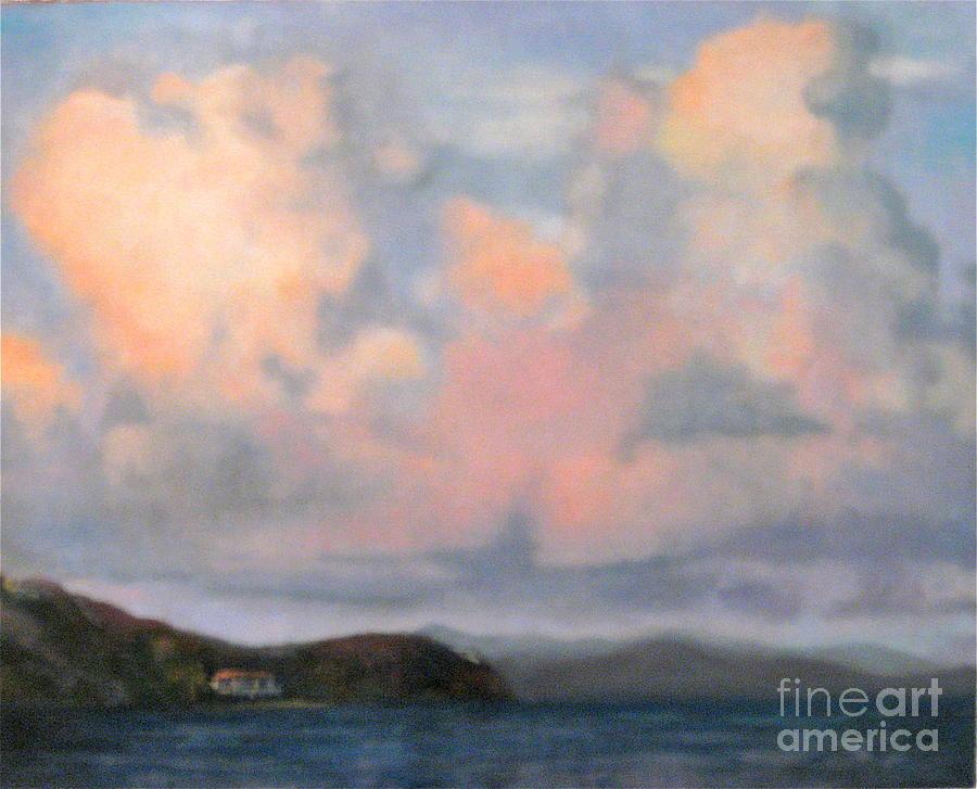Water Painting - St.thomas by Cynthia Mozingo