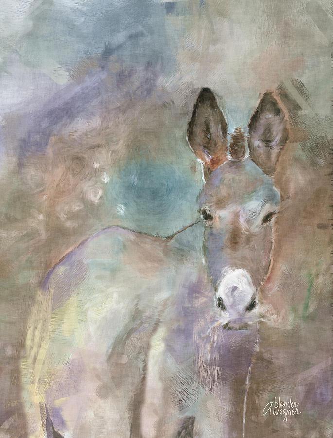 Donkey Digital Art - Stubborn Jesse - Im Not Moving by Arline Wagner