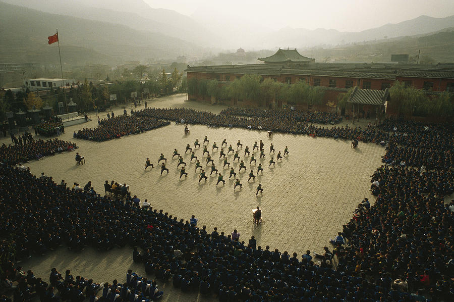 Asia Photograph - Students At The Ta Gou Academy by Justin Guariglia