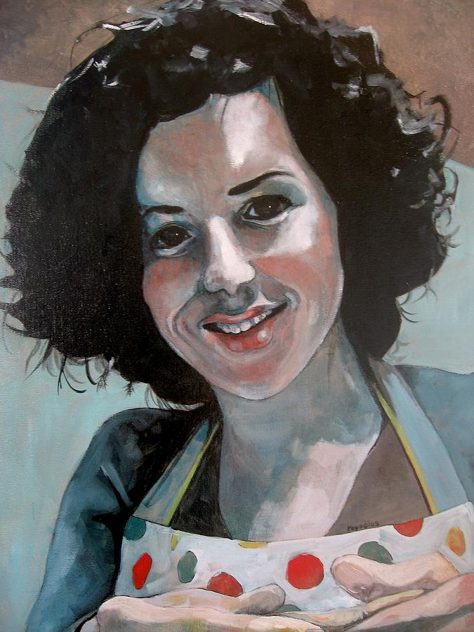 Chef Painting - Study For Marilu by Ray Agius