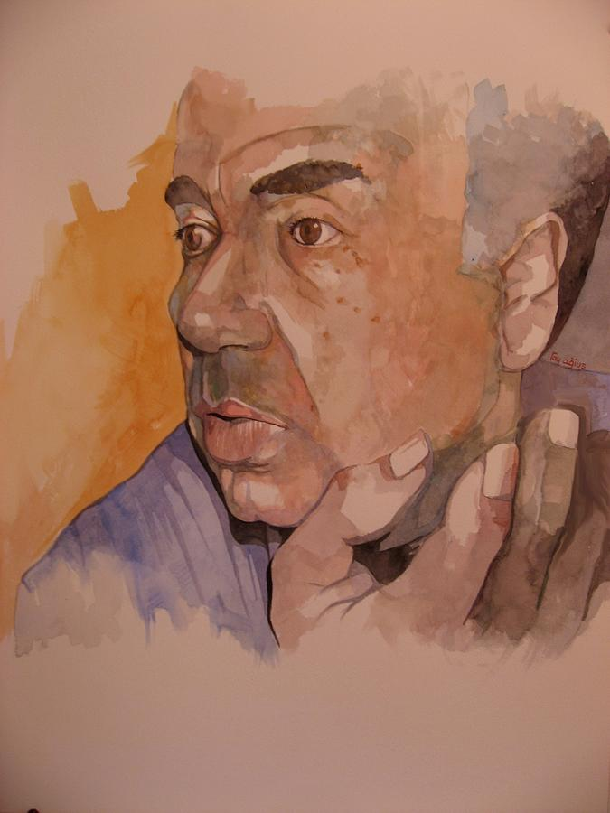 Male Painting - Study For Rev Joe by Ray Agius